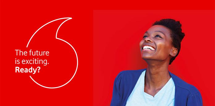 Motyw łezki w nowej identyfikacji Vodafone