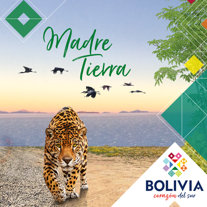 Grafika promująca Boliwię - nowa identyfikacja
