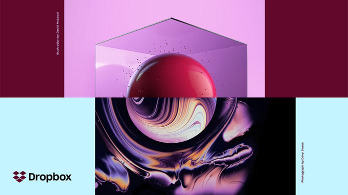 Kolaż Dropbox - redesign
