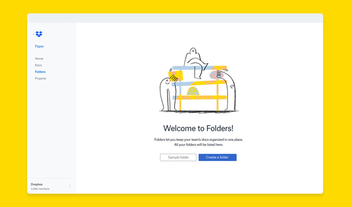 Interfejs Dropboxa - nowa identyfikacja