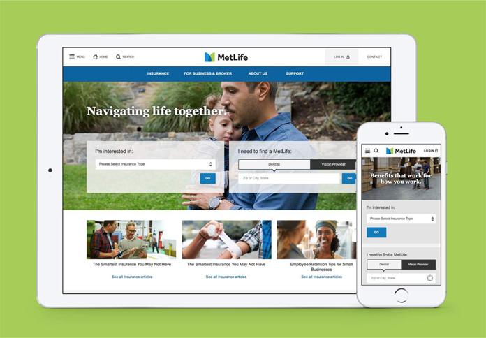 Projekt nowej strony internetowej MetLife
