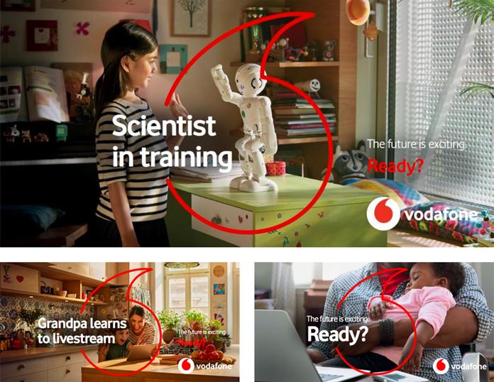 Przykłady nowych reklam operatora Vodafone
