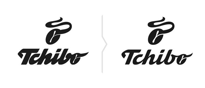 Porównanie starego i nowego logo Tchibo