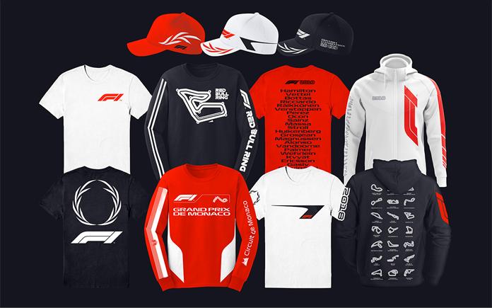 Ubrania F1 z nowym logo i identyfikacją wizualną