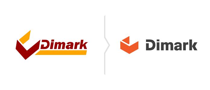 Rebranding i zmiana logo Dimark
