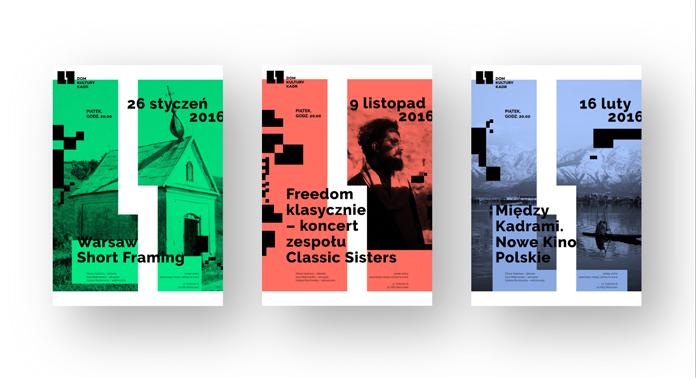 Nowe plakaty Domu Kultury Kadr w Warszawie