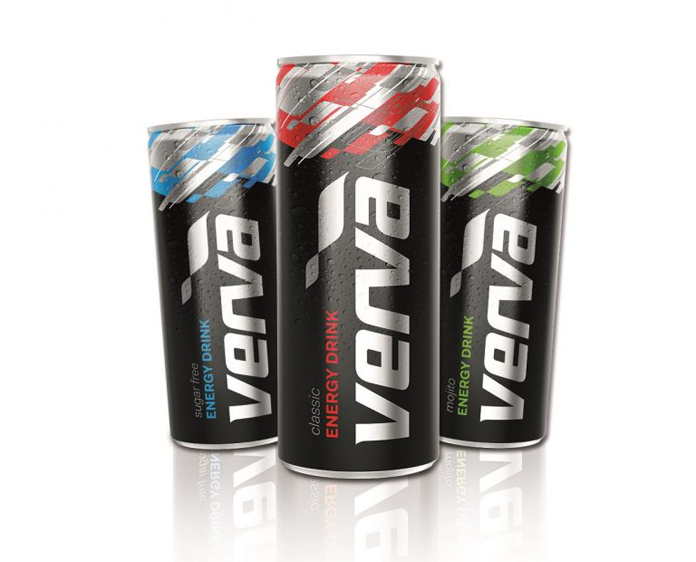 Nowe logo Verva na puszkach z napojem