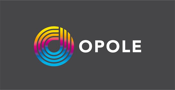 Logo Opola na ciemnym tle