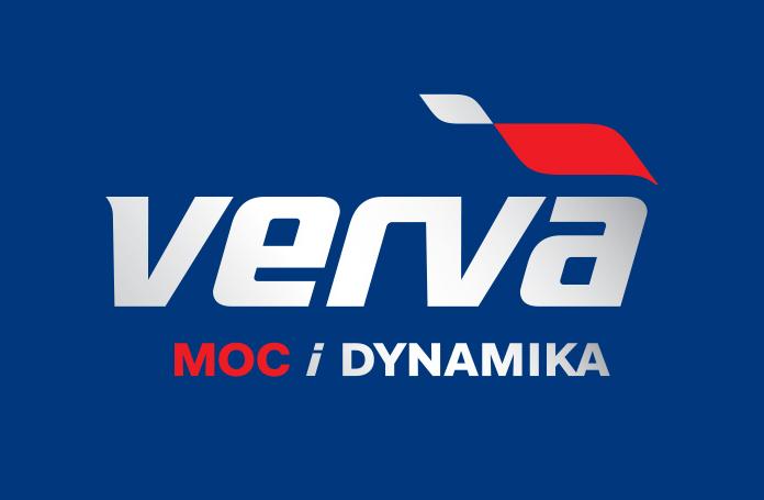 Nowe logo Vervy w wersji z gradientem