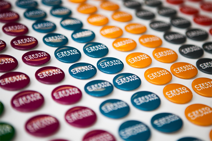 Nowe logo Częstochowy na pinach