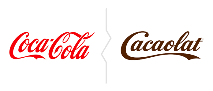 Zestawienie znaków Coca-Coli i Cacaolat