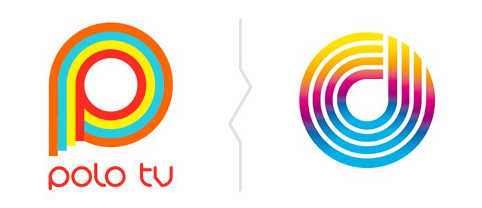 Porównanie znaków Polo TV i Opola