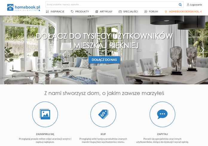 Dotychczasowa strona Homebook.pl screen