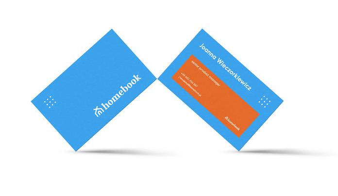 Wzór wizytówki Homebook po rebrandingu