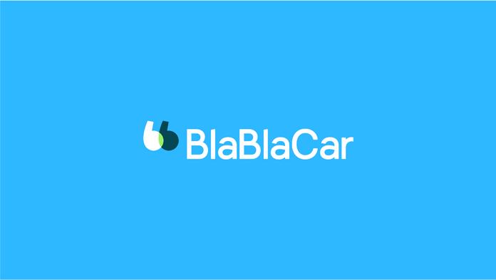Nowe logo BlaBlaCar - niebieskie tło