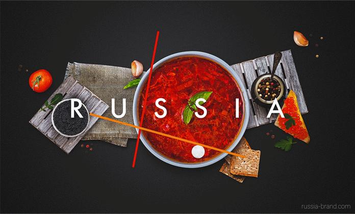 Wizualizacja znaku - branding Rosji