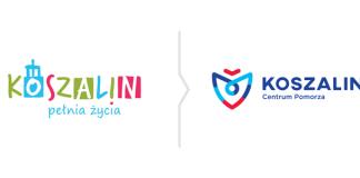Rebranding Koszalina - porównanie logo