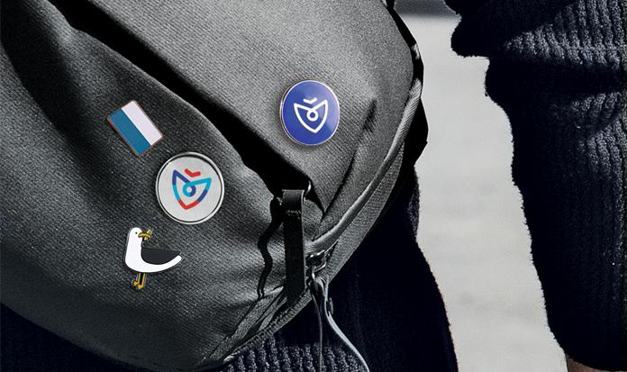 Przypinki z logo Koszalina