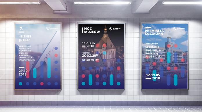 Plakaty z nowym logo Koszalina