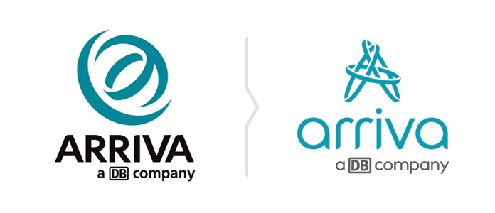 Logo Arriva w wersji pionowej