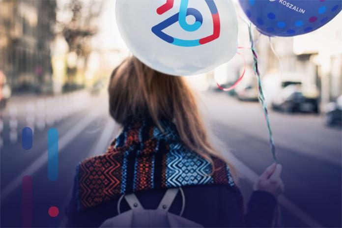 Nowe logo Koszalina na balonie