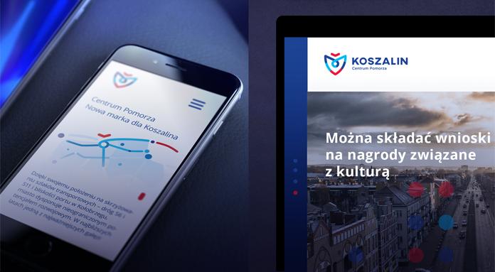 Projekty online nowej identyfikacji Koszalina