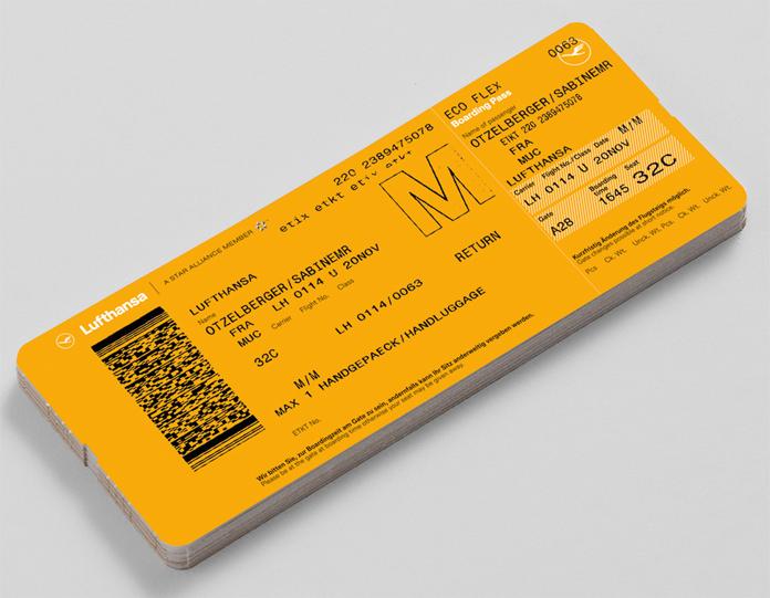 Bilet Lufthansa - rebranding