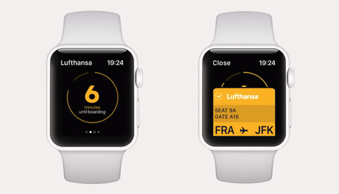 Lufthansa - smartwatch design interface
