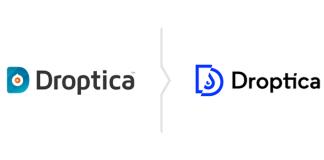 Rebranding Droptica - stare i nowe logo