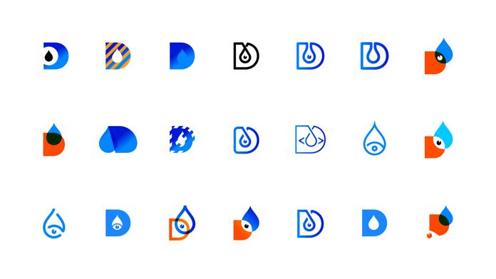 Zestaw piktogramów nowej identyfikacji Droptica