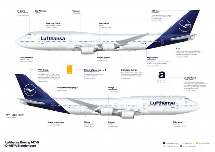 Nowe umalowanie samolotów Lufthansa