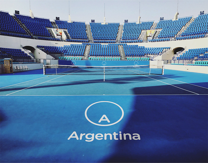 Logo Argentyny na stadionie - wizualizacja