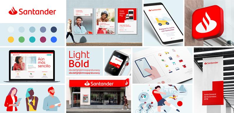 Santander Bank zmienia identyfikację - wizualizacja