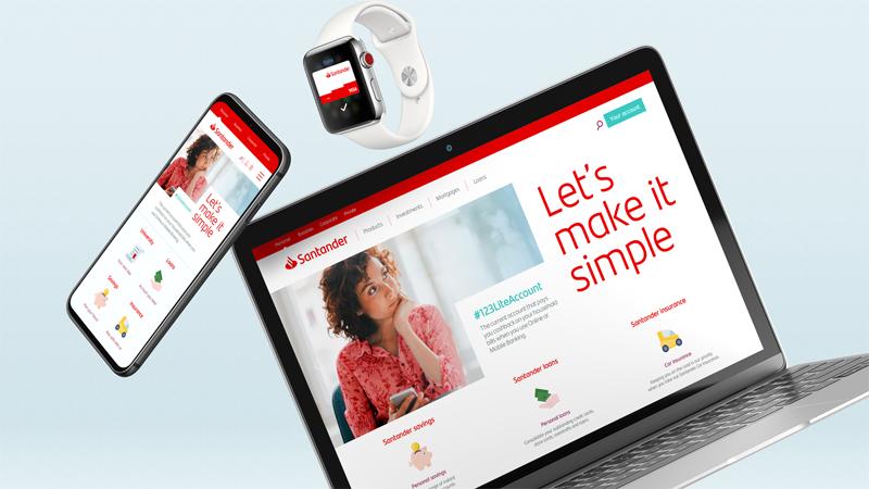 Nowa identyfikacja wizualna banku Santander