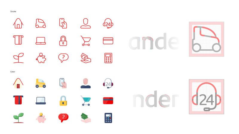 Ikony Santander po rebrandingu