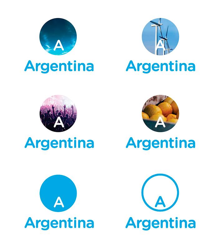 Warianty nowego logo Argentyny