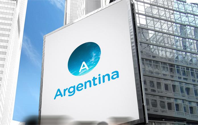 Logo Argentyny na budynku