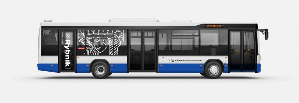 Obrandowanie autobusu w Rybniku