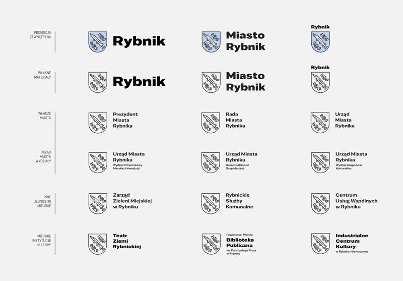 Warianty nowego logo Rybnika