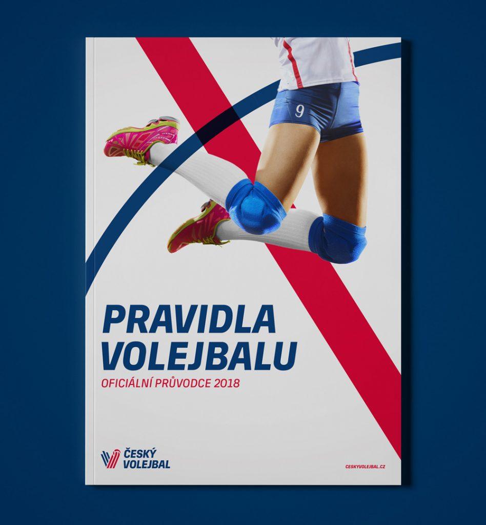 Plakat z nowym logo czeskiego związku siatkówki