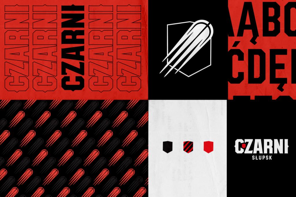 Czarni Słupsk - typografia i elementy rebrandingu