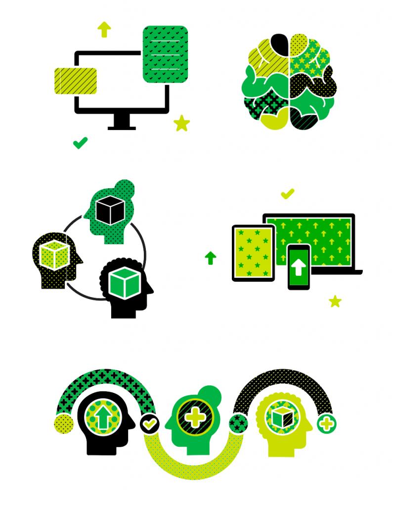 Elementy nowej identyfikacji wizualnej Evernote