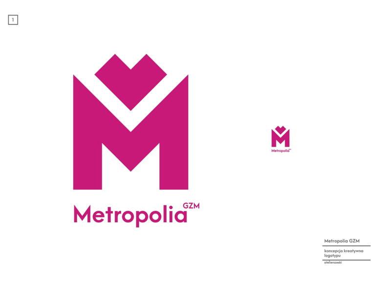 Warianty skalowalne nowego logo Metropolii GZM
