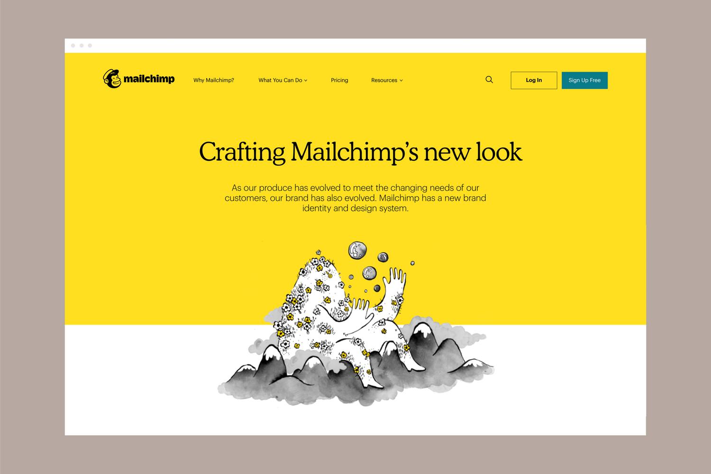Nowa strona główna Mailchimp