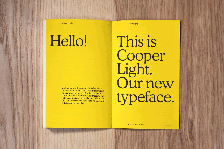 Prezentacja typografii Mailchimp