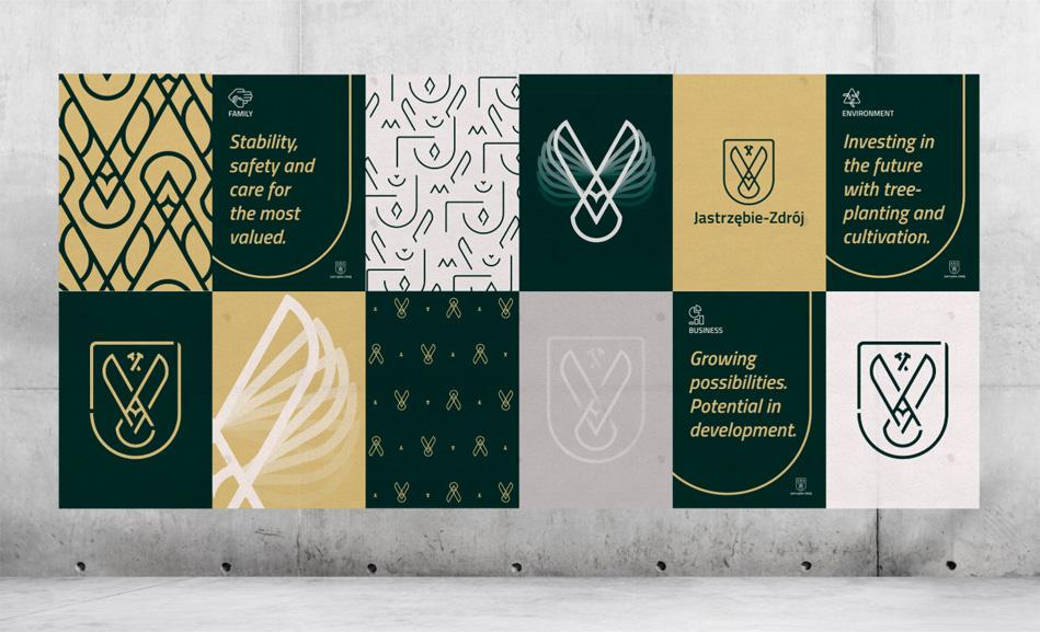 Plakaty z nowym logo Jastrzębia-Zdroju