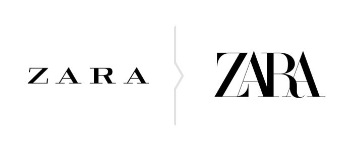 Rebranding Zara - nowe logo 2019