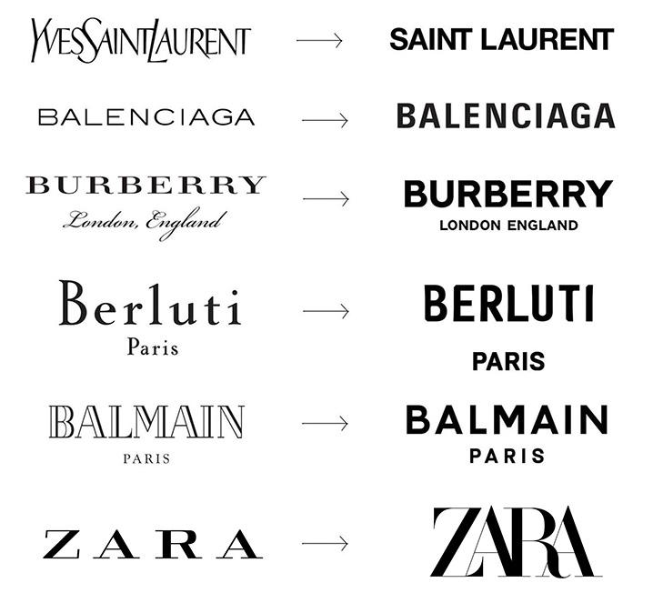 Porównanie rebrandingów innych marek fashion