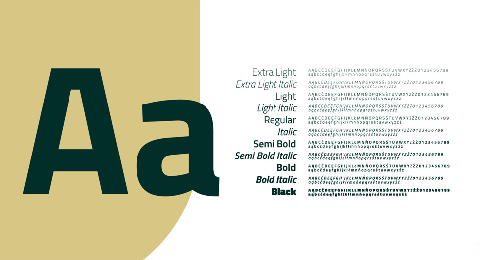 Typografia identyfikacji miejskiej Jastrzębia-Zdroju