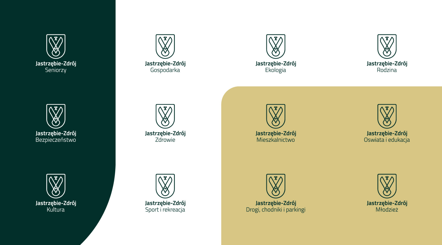 Warianty nowego logo Jastrzębia-Zdroju - jednostki miejskie